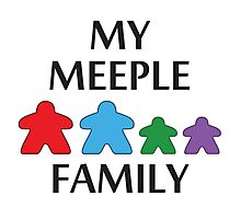 My Meeple Family Photographic Print