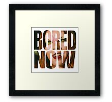 Bored now - Vampire Willow Framed Print