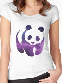 Galaxy WWF Panda Women's Fitted Scoop T-Shirt
