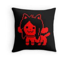 Red Temmie Throw Pillow