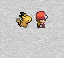 Red and Pikachu 16 bit Unisex T-Shirt