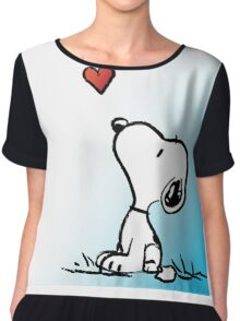 snoopy fly heart Chiffon Top
