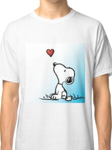snoopy fly heart Classic T-Shirt