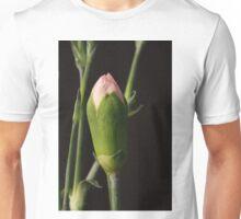 Pink Carnation Bud Closeup Unisex T-Shirt