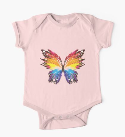 Colorful ButterFLy One Piece - Short Sleeve