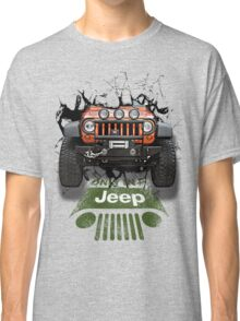 Jeep Breaking Wall 3D Art Classic T-Shirt