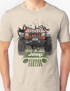 Jeep Breaking Wall 3D Art T-Shirt