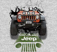 Jeep Breaking Wall 3D Art Unisex T-Shirt