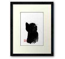 cat up Framed Print