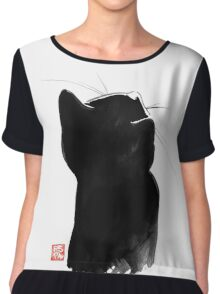 cat up Chiffon Top