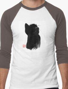 cat up Men's Baseball ¾ T-Shirt