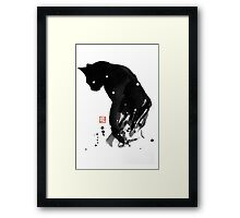 spot cat Framed Print
