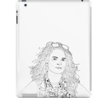 tina fey drawing iPad Case/Skin