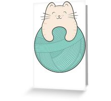 knit cat Greeting Card