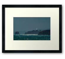 Bleak Weather, Aireys Inlet, Split Point. Framed Print