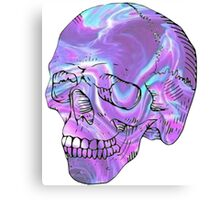 holographic skull Canvas Print
