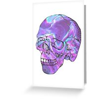 holographic skull Greeting Card