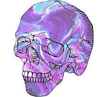 holographic skull Photographic Print
