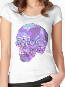 holographic skull Women's Fitted Scoop T-Shirt