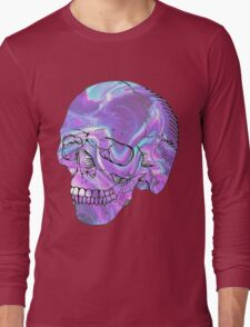 holographic skull Long Sleeve T-Shirt