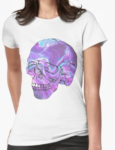 holographic skull Womens Fitted T-Shirt