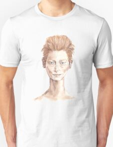 Tilda Red Head Face Portrait Drawing T-Shirt