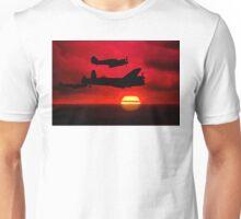 BBMF Vic Sunset Silhouette Montage Unisex T-Shirt