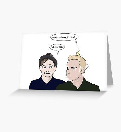 Patrick and Pete - Uma Thurman  Greeting Card