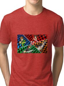 Persona 4 All Out Attack Illustration Tri-blend T-Shirt