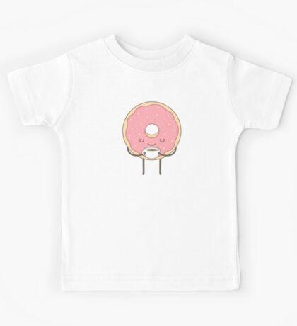 donut loves coffee Kids Tee