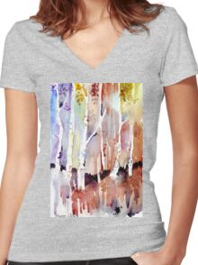 Gum forest on 84 Women's Fitted V-Neck T-Shirt