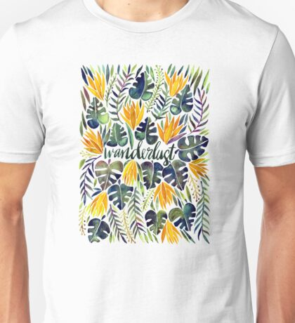 Tropical Wanderlust – Orange & Emerald Unisex T-Shirt
