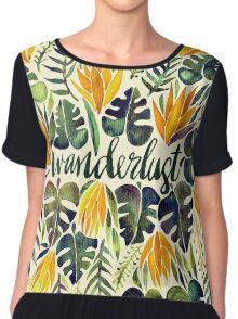 Tropical Wanderlust – Orange & Emerald Chiffon Top