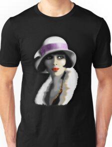 Girl's Twenties Vintage Glamour Portrait Unisex T-Shirt