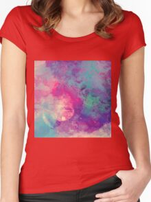 Abstract 01 Women's Fitted Scoop T-Shirt