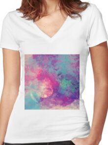 Abstract 01 Women's Fitted V-Neck T-Shirt