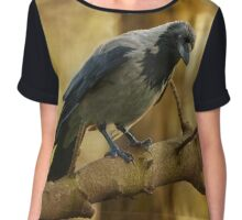 Crow on the branch Chiffon Top