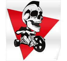 Skeleton on Tricycle Poster