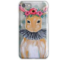 Bunny with flower crown iPhone Case/Skin