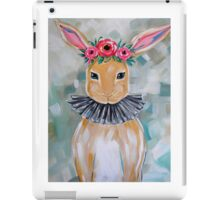 Bunny with flower crown iPad Case/Skin