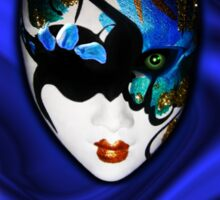 Blue Velvet Venice Mask  Sticker