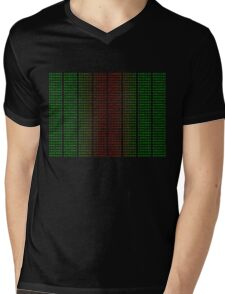 Binary Green and Red With Spaces Mens V-Neck T-Shirt