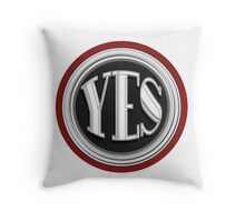 YES  cafe art deco style  Throw Pillow