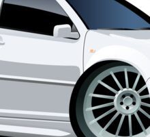 Cartoon Car VW Sticker