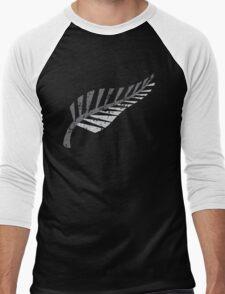 Silver fern distressed  Men's Baseball ¾ T-Shirt