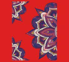 Mandala Pattern Watercolor V2 Purple Orange Kids Tee