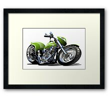 Cartoon Motorcycle Framed Print