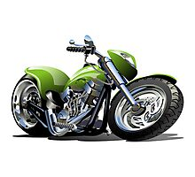 Cartoon Motorcycle Photographic Print