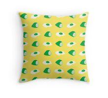 green eggs & ham Throw Pillow