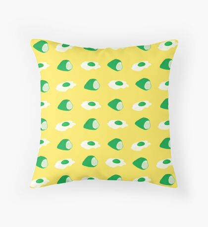 green eggs & ham Throw Pillow